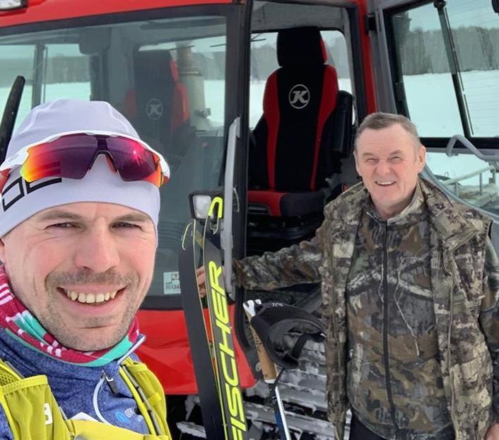 Сергей Устюгов посетил трассу лыжного марафона